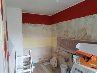 Decken und Wände abscheren