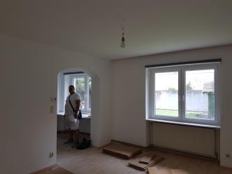 Gipskarton Decke und Wände fix und fertig