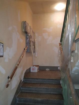 Verspachteln Stiegenhaus